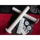 Odi longneck XL grips white + demolition alu barends