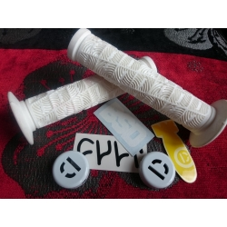 Odi O grips white + demolition alu barends