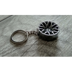 Grey wheel keychain