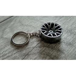 Grey wheel keychain