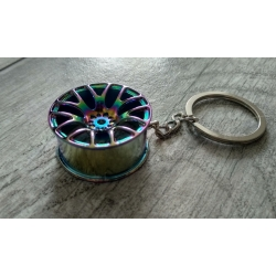 Rainbow colour wheel keychain