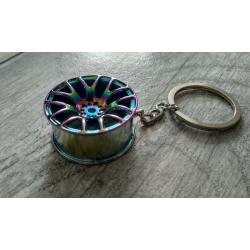 Rainbow colour wheel keychain